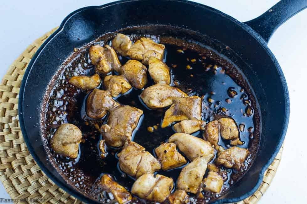 Sautéed Chicken for Japanese Chicken Stir Fry