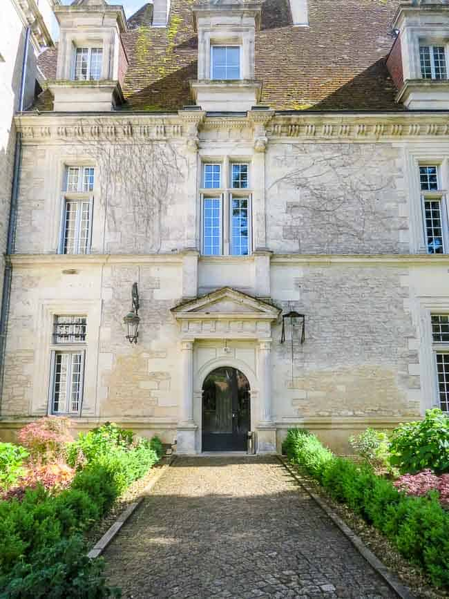 Entrance to main chateau at Domaine du Monrecour, a château hotel in France
