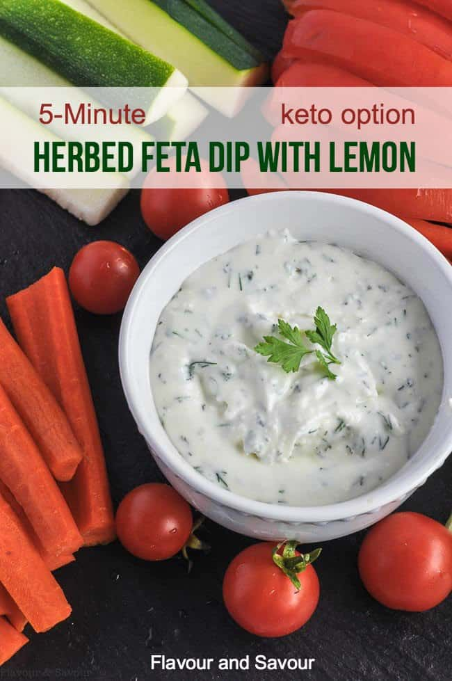 Title for Herbed Feta Dip with Lemon
