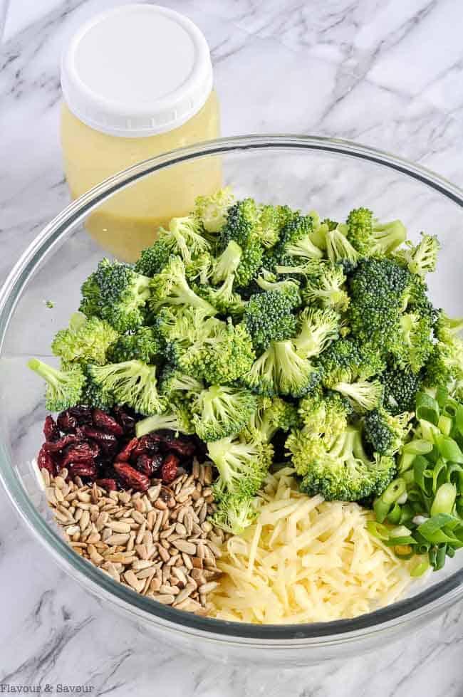 Ingredients for Honey-Dijon Broccoli Salad