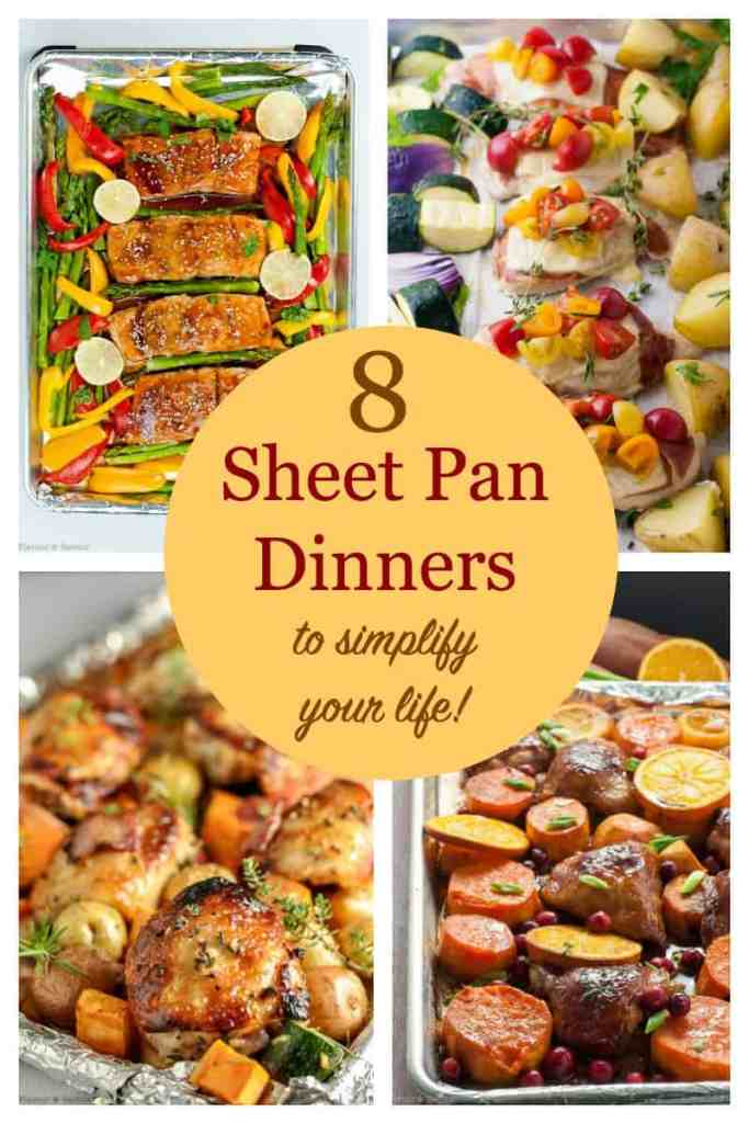 PInterest PIn for 8 Sheet Pan Dinners