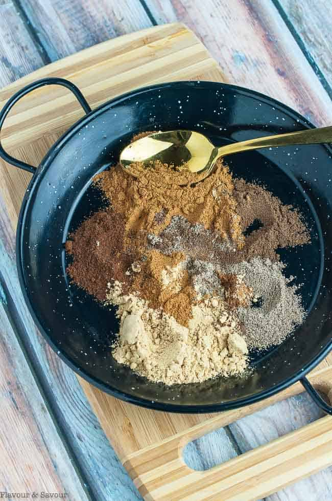 Mixing spices for Chai Spice Mix