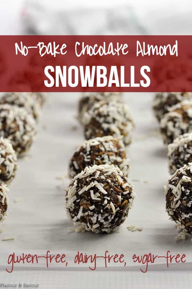 Title for No-Bake Chocolate Almond Snowballs