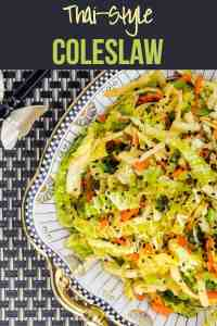 Pinterest Pin for Thai-Style Coleslaw with Kohlrabi