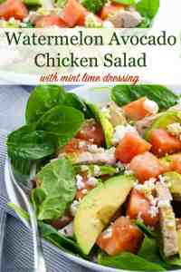 Pinterest Pin for watermelon salad