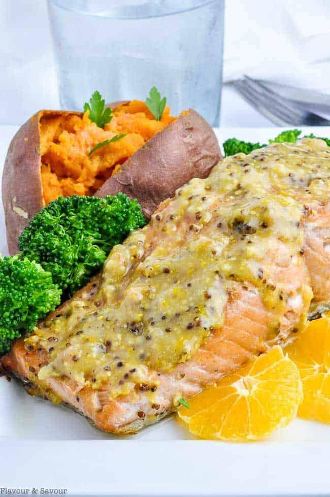 Mandarin Orange Miso Glazed Salmon