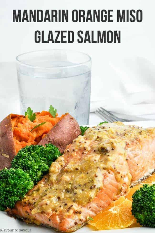 Title for Mandarin Orange Miso Glazed Salmon