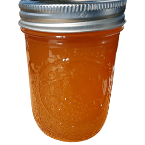 Salted cantaloupe artisan jelly handcrafted with natural, locally grown produce from Flavour in a Jar.