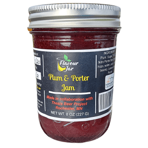 Plum and porter jam by Flavour in a Jar, handmade with fresh, local ingredients and infused with locally brewed beer.