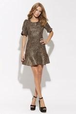 Gold tweed mini dress