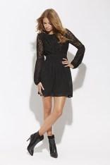 Sheared waist dress