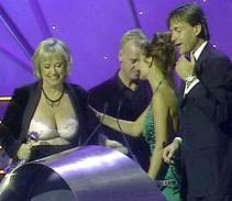 Judy Finnigan unknowingly flashed her bra at the 2001 National Television Awards as she collected an award with her husband Richard