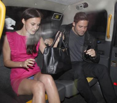Made in Chelsea's Lucy Watson flashes her underwear as she gets a cab with co-star Spencer Matthews