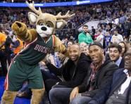 Drogba - Henry and Milwaukee Bucks Mascot