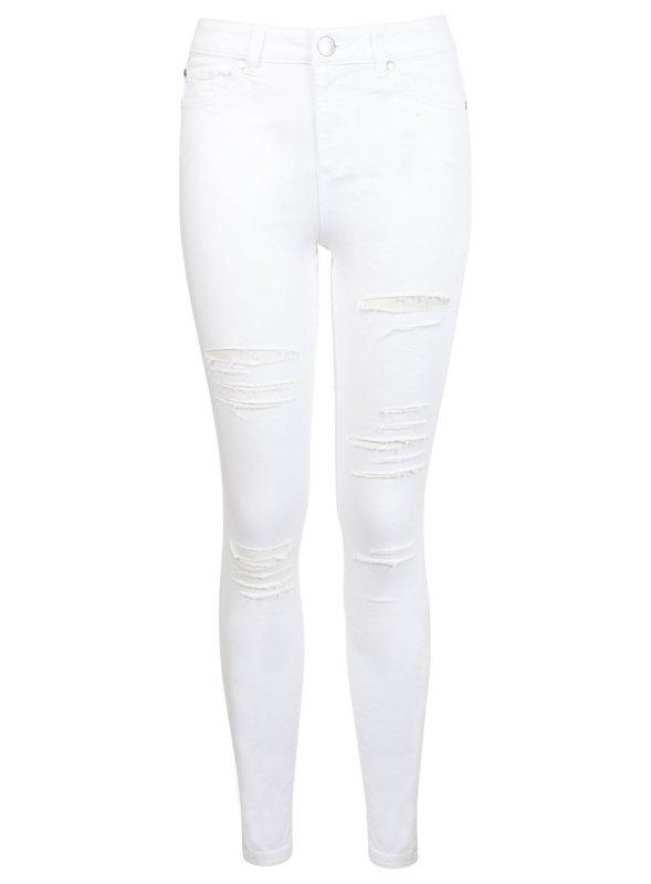 lizzie white shredded jeans