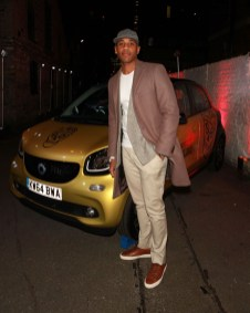 LONDON, ENGLAND - OCTOBER 15: Reggie Yates arrives at smart Disturbs London - Premiere Of The Documentary at Shoreditch Studios on October 15, 2015 in London, England. (Photo by David M. Benett/Dave Benett/Getty Images for smart and Disturbing London) *** Local Caption *** Reggie Yates