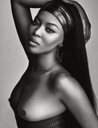 Naomi Campbell Naked in Lui Magazine 4