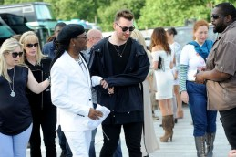 LONDON, ENGLAND - JUNE 21: (SUN NEWSPAPER OUT. MANDATORY CREDIT PHOTO BY DAVE J. HOGAN GETTY IMAGES REQUIRED) Nile Rodgers and Sam Smith backstage at the British Summer Time 2015 at Hyde Park on June 21, 2015 in London, England. (Photo by Dave J Hogan/Getty Images) *** Local Caption *** Nile Rodgers; Sam Smith