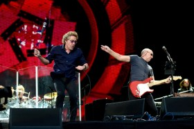 LONDON, ENGLAND - JUNE 26: Singer Roger Daltrey (L) and guitarist Pete Townshend of The Who perform at the Barclaycard British Summertime gigs at Hyde Park on June 26, 2015 in London, England. (Photo by Dave J Hogan/Getty Images) *** Local Caption *** Roger Daltrey;Pete Townshend