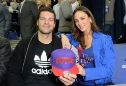 LONDON, ENGLAND - JANUARY 14: Michael Ballack and Natacha Tannous attend Orlando Magic vs Toronto Raptors NBA Global Game at The O2 Arena on January 14, 2016 in London, England. (Photo by David M. Benett/Dave Benett/Getty Images for NBA)