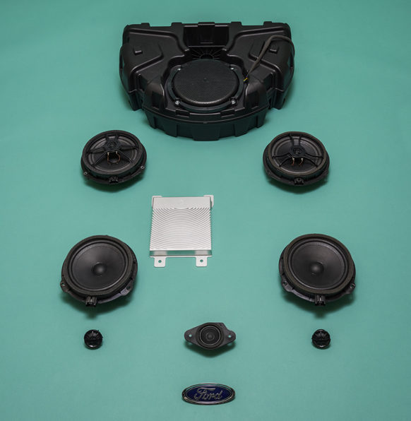 The Elements installed in the new Ford Fiesta Vignale, includes speakers, subwoofer and amplifier