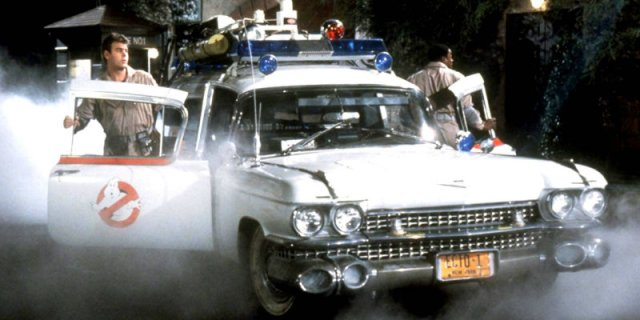 The Ecto-1 in Ghostbusters