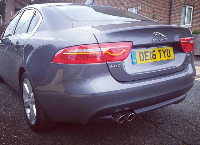 Jaguar XE Portfolio rear view by Leonard W Foster