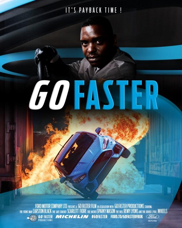 Go Faster poster starring Leonard W Foster