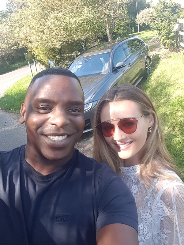 Stopped off for a quick selfie with Niomi Smart