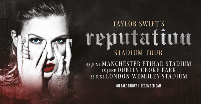 taylor swift UK tour