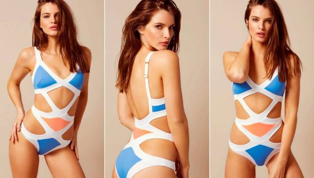 Mazzy Swimsuit White And Blue