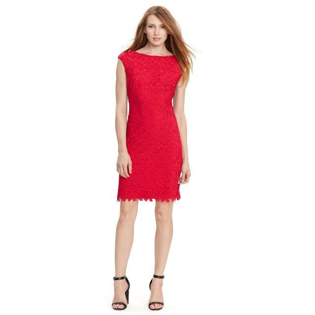Lace Cap-Sleeve Dress £180.00