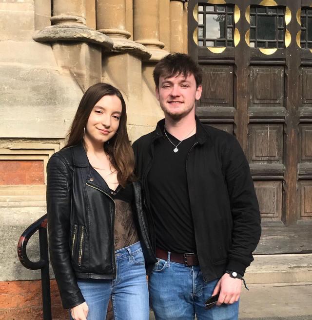 Ryan McMullan and Sophie Bird