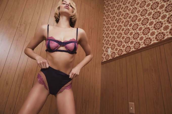 Hailey Clauson Love and Lemons lingerie shoot