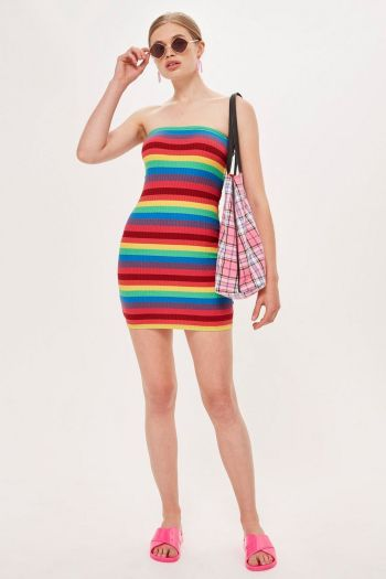 Topshop sale Rainbow Bandeau Dress