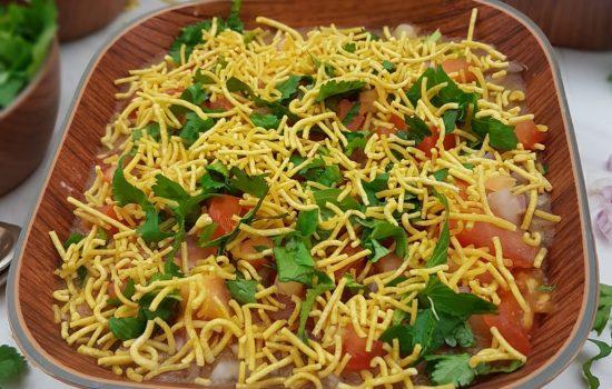 Masala Puri Chaat (Popular Street Food recipe)
