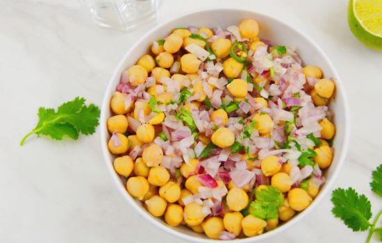 Simple Chickpea Salad (Vegan & GF Chana Salad)