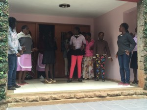 We were greeted at Mercy House by these beautiful girls singing in Swahili