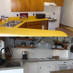 Complete Kitchen Refinishing Cabinets Cost Renovation On A Tiny Budget Flawless Chaos Yesterday I Blogged About The Overall Cabin But Today Thought Would Go Into Details For As Mentioned Before