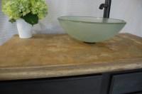 DIY concrete bathroom vanity | Flawless Chaos