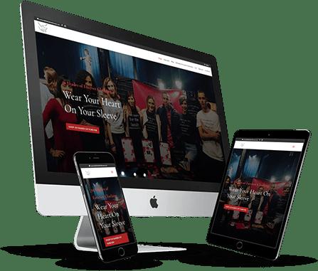 50 shades of forever website design