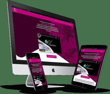 THC Girls Website Design