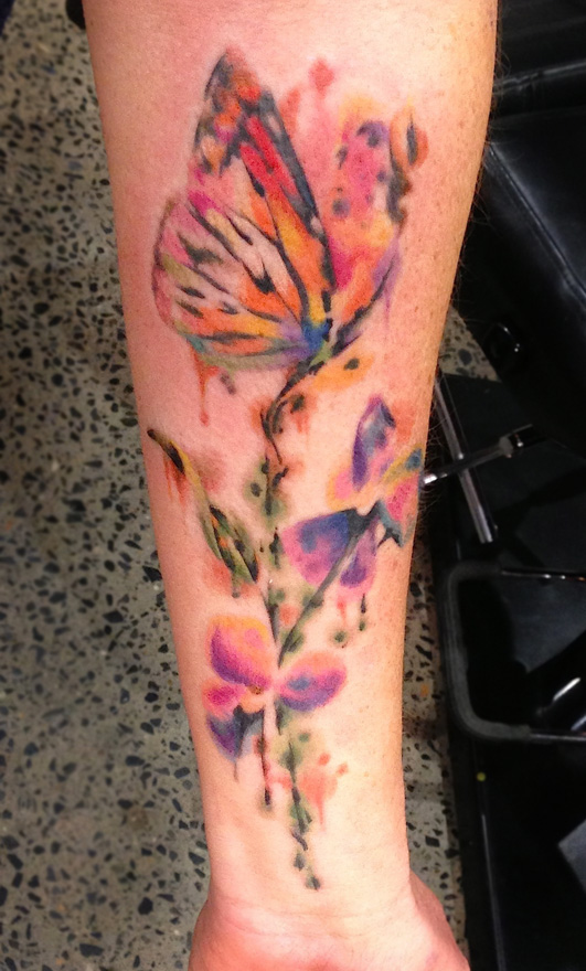 Cute Colour Wallpaper Watercolor Tattoos Butterfly Ideas Flawssy