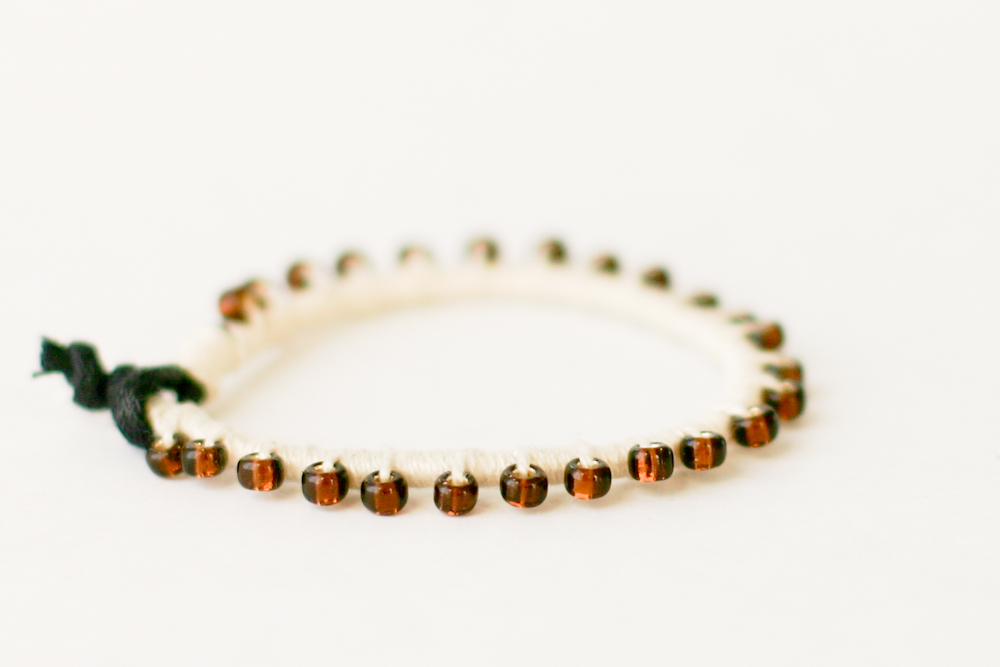 A Bead, Thread and Leather Bracelet DIY-a year of handmade gift ...