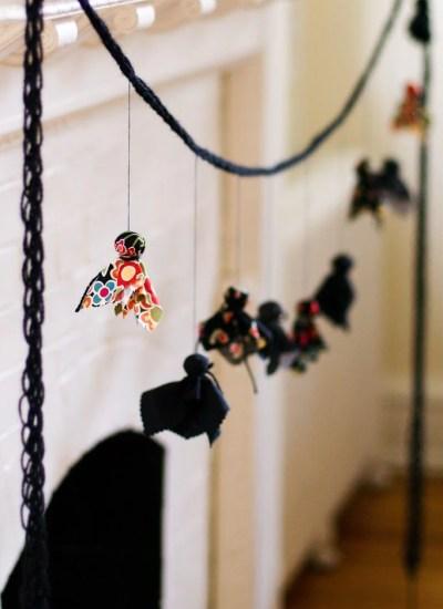 A Finger-Knit Ghost Garland – DIY tutorial