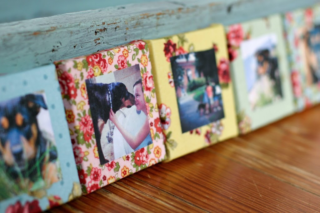 fabric photo frames flax twine