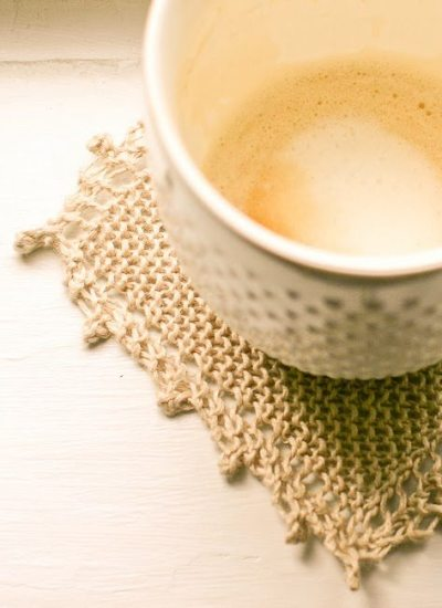 Cozy Linen Coasters – A Quick Knit Gift
