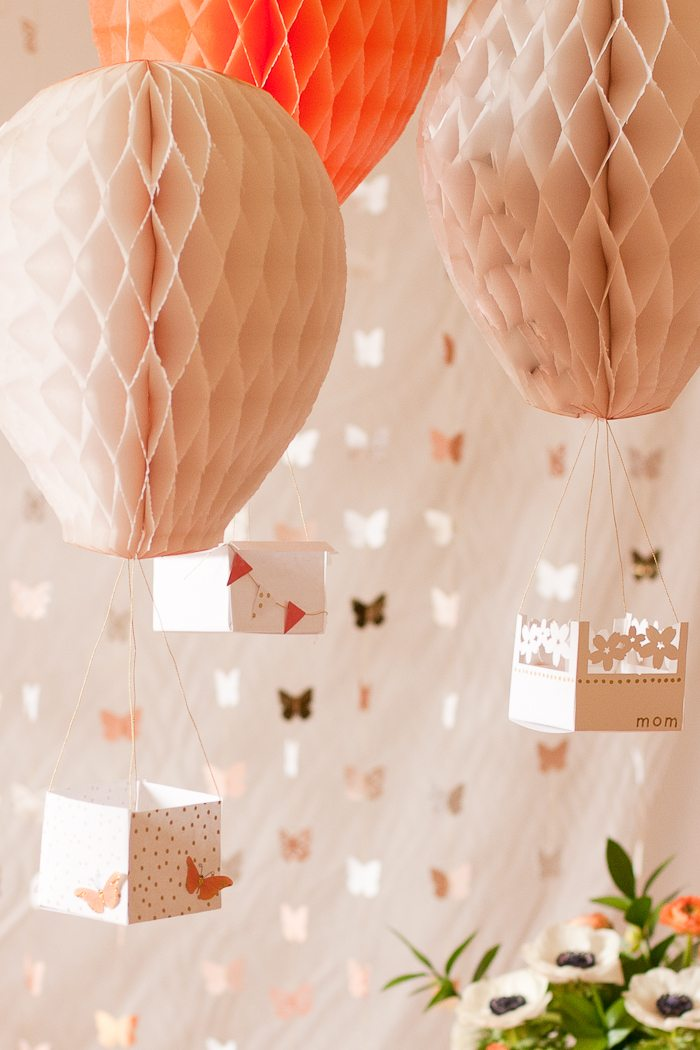 Diy hot air balloon party decor flax twine