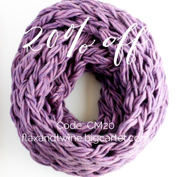 cyber monday infinity scarf 20% off