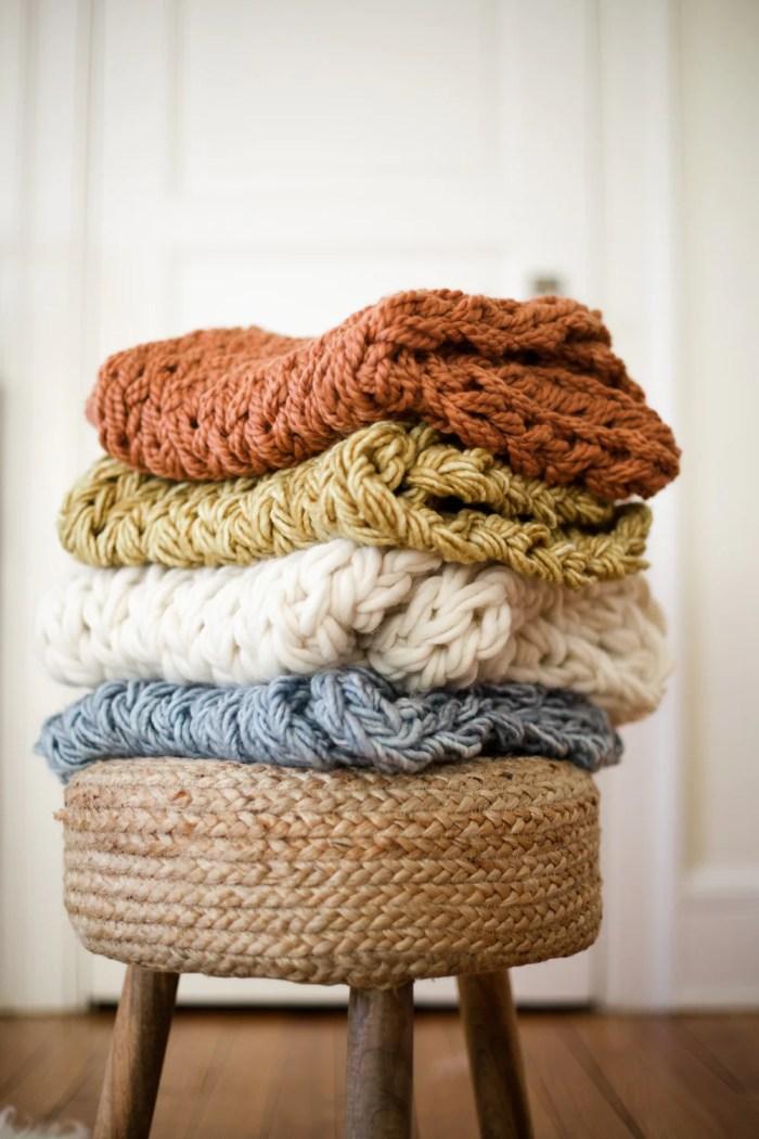 flax & twine arm knitting